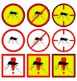 mosquito icons vector image