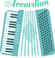 Musical Accordion vector image vector image
