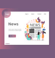 news website landing page design template vector image