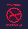 no guns sign with shotgun firearms poster vector image