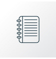 notepad icon line symbol premium quality isolated vector image