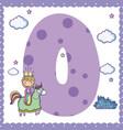 o alphabet letter for kids vector image