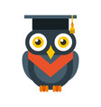 owl with hat graduation vector image vector image