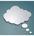 paper cloud for text vector image