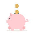 piggy bank with coin for save money vector image