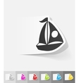 realistic design element sailing boats vector image