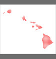 red dot map of hawaii vector image vector image