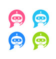 robot icon chat bot sign for support service vector image vector image