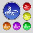 scissors icon sign Round symbol on bright vector image vector image
