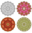 set mandala different color 42 vector image