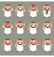 Set of cartoon muslim icons2 vector image vector image