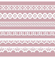 set of seamless borders vector image vector image