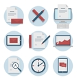 Set of web icons for business flat design finance vector image vector image