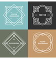 set outline emblems and badges vector image vector image