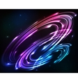 Shining neon lights cosmic abstract background vector image vector image