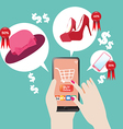 Shopping online on valentine day vector image