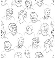 Smiling and Laughing Faces Seamless Pattern vector image