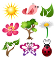 Spring symbol set vector image