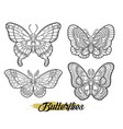 stylized butterflies isolated on white background vector image vector image