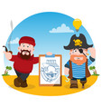 the poster for the pirate party the leaflet with vector image vector image
