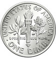 united states dime coin reverse vector image vector image