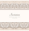 vintage background with lace borders vector image vector image