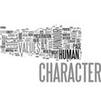 why do we lack character text word cloud concept vector image vector image