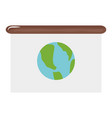 world map planet in paper board vector image