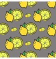 Bright yellow fresh lemon seamless pattern vector image