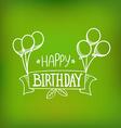 Hand-drawn greeting card Happy birthday vector image