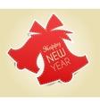 Christmas vintage greeting card with jingle bells vector image