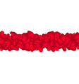 border of flying small red hearts isolated vector image