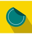 Round blue sticker icon flat style vector image