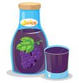 A grape juice vector image