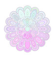 abstract floral mandala art - digital graphic vector image vector image