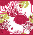 abstract flowers red and olive background vector image vector image