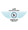 Air conditioner service logo vector image