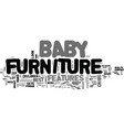 baby furniture how to choose the right furniture vector image vector image