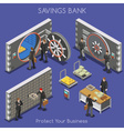 Bank Office 01 People Isometric Bank Office 02 vector image vector image
