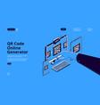 banner qr code generator vector image