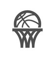 basketball net icon vector image vector image