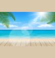 beautiful beach scene vector image