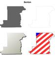 Benton Map Icon Set vector image vector image
