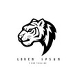 black and white tiger used for logos and other vector image