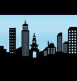 cityscape black architectural building icon vector image vector image