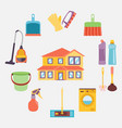 cleaning icons color set vector image