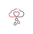 cloud sky with heart shape vector image