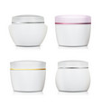 cream container set plastic jar for vector image