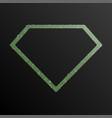 diamond banner of green sequins banner sequins vector image vector image