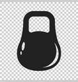 dumbbell fitness gym in flat style barbell on vector image vector image